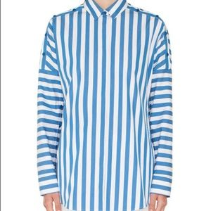 Akris Punto Tops - AKRIS Punto Striped Kent-Collar dolman blouse 10